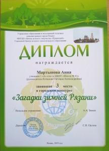 диплом мартынова